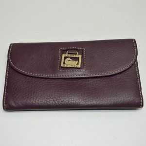 Dooney & Bourke Dillen Deep Purple Leather Wallet